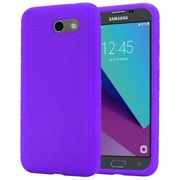 Insten Rugged Silicone Soft Skin Gel Back Cover Case For Samsung Galaxy J3 (2017) - Purple