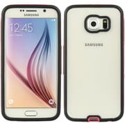 Insten Hybrid Transparent PC Hard Protective Bumper Case For Samsung Galaxy S6 - Clear/Hot Pink