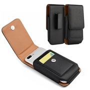 Insten For Samsung Galaxy Note / I717 Vertical Universal Leather Pouch - Black