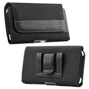 Insten Horizontal Pouch Leather Cover Protective Case w/ Belt Clip For Samsung Galaxy Note - Black