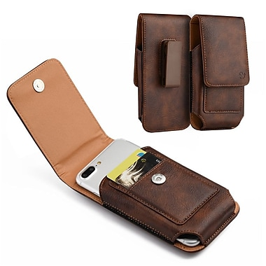 Insten For Samsung Galaxy Note / I717 Vertical Universal Leather Pouch - Brown