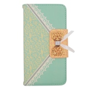 Insten Wallet Leather Case with Stand & Card slot For Alcatel One Touch Fierce 2 7040T/Pop Icon - Green/Gold