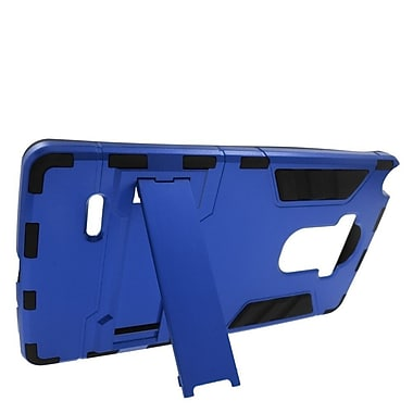 Insten Hard Hybrid Rubber Coated Silicone Stand Case For LG G Stylo / G Vista 2 - Blue/Black