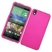 Insten Hard Rubber Cover Case For HTC Desire 816 - Hot Pink