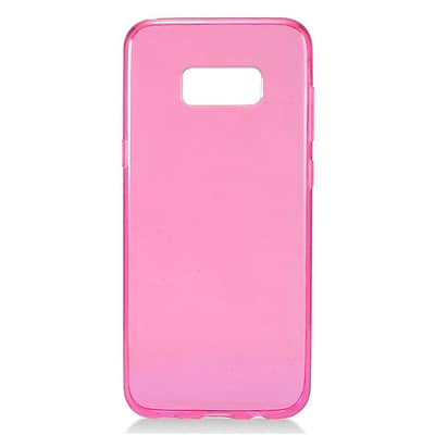 Insten Frosted Pattern TPU Candy Skin Gel Rubber Back Case Cover For Samsung Galaxy S8+ S8 Plus - Hot Pink 24097754