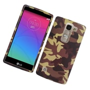 Insten Camouflage Hard Rubber Coated Case For LG Escape 2 - Brown