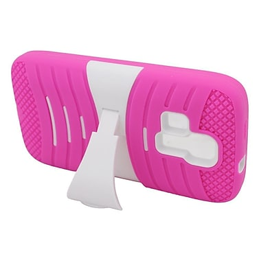 Insten Wave Dual Layer Hybrid Case For Kyocera Hydro Icon 6730/Hydro Life 6530 - Hot Pink/White