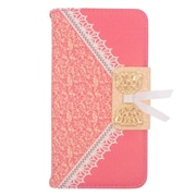 Insten Wallet Leather Case with Stand & Card slot For Alcatel One Touch Fierce 2 7040T/Pop Icon - Hot Pink/Gold