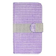 Insten Wallet Leather Bling Case with Card slot For Alcatel One Touch Fierce 2 7040T/Pop Icon - Purple/Silver