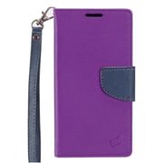Insten PU Leather Wallet Flip Pouch Stand Case Cover for HTC Desire 530 - Purple/Blue