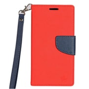 Insten PU Leather Wallet Flip Pouch Stand Case Cover for HTC Desire 530 - Red/Blue