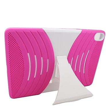 Insten Wave Symbiosis Rubber Hybrid Hard Stand Case For HTC Google Nexus 9 - Hot Pink/White