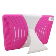 Insten Wave Symbiosis Rubber Hybrid Hard Stand Case For HTC Google Nexus 9 - Hot Pink/White