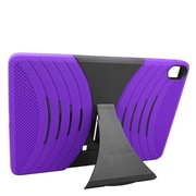 Insten Wave Symbiosis Silicone Hybrid Rubber Hard Stand Case For HTC Google Nexus 9 - Purple/Black