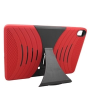 Insten Wave Symbiosis Skin Hybrid Rubber Hard Stand Case For HTC Google Nexus 9 - Red/Black