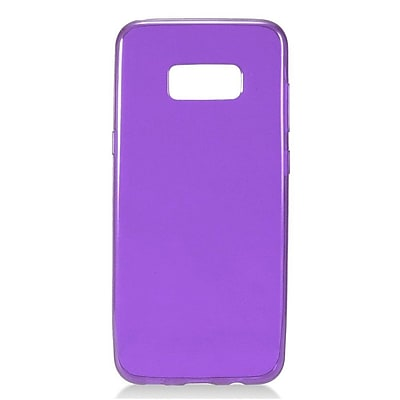 Insten Frosted Pattern TPU Candy Skin Gel Rubber Back Case Cover For Samsung Galaxy S8+ S8 Plus - Purple 24101439