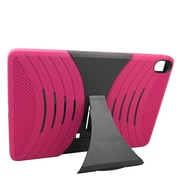 Insten Wave Symbiosis Rubber Dual Layer Hard Stand Case For HTC Google Nexus 9 - Hot Pink/Black