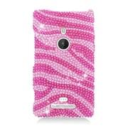 Insten Zebra Hard Diamond Cover Case For Nokia Lumia 925 - Hot Pink/Pink