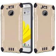 Insten Slim Armor Brushed Metal Design Hybrid Hard TPU Cover Back Case For HTC 10 EVO / Bolt - Gold/Black