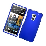Insten Rubberized Hard Snap-in Case Cover for HTC One Max - Blue