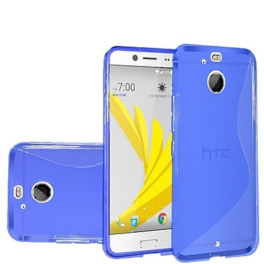 Insten Frosted Rubber Cover Case For HTC 10 / Bolt - Blue