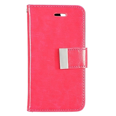 Insten Flip Luxury PU Leather Wallet Flap Pouch Case Cover for Apple iPhone 7 Plus - Hot Pink