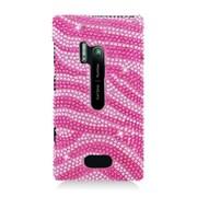 Insten Zebra Hard Bling Case For Nokia Lumia 928 - Hot Pink/Pink