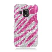 Insten Zebra Hard Diamante Cover Case For Pantech Perception - Hot Pink/Silver