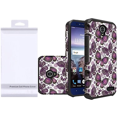 Insten Butterfly Flower Polka Dots Slim Dual Layer Hybrid Hard Silicone Cover Protective Case For ZTE Grand X 4