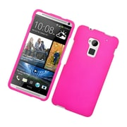 Insten Rubberized Hard Snap-in Case Cover for HTC One Max - Hot Pink