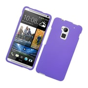 Insten Rubberized Hard Snap-in Case Cover for HTC One Max - Purple