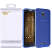 Insten Frosted Rubber Cover Case with Screen Protector For Alcatel One Touch Fierce 4 / Pop 4 Plus - Blue