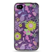 Insten Hard Crystal Skin Back Protective Shell Cover Case For Apple iPhone 4 / 4S - Blue Multi Weed