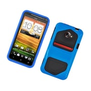 Insten Dual Layer Hybrid Hard Snap-in Case Cover for HTC EVO 4G LTE - Blue/Black