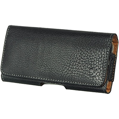 Insten Horizontal Leather Pouch Belt Clip Case Cover For Apple iPhone 5 / 5S - Black