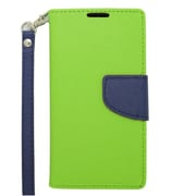 Insten Leather Cover Case with Lanyard & Photo Display For Samsung Galaxy Avant - Green/Blue