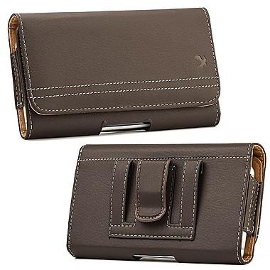 Insten Horizontal Leather Pouch Belt Clip Case Cover For LG G Flex, ZTE Max - Brown