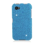 Insten Hard Rhinestone Case For HTC First - Light Blue