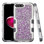 Insten Hard Hybrid Diamond Silicone Case For Apple iPhone 7 Plus - Purple/Black