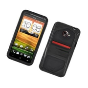 Insten Dual Layer Hybrid Hard Snap-in Case Cover for HTC EVO 4G LTE - Black