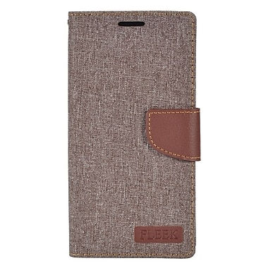 Insten Flip Leather Fabric Stand Case w/ Card Holder/Photo Display for LG V10 - Gray/Brown