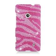 Insten Zebra Hard Diamond Case For Nokia Lumia 521 - Hot Pink/Pink