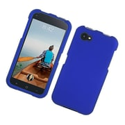 Insten Rubberized Hard Snap-in Case Cover for HTC First - Blue