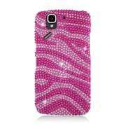 Insten Zebra Hard Rhinestone Cover Case For Pantech Flex P8010 - Hot Pink/Pink