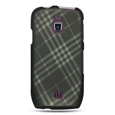Insten Hard Crystal Rubber Skin Back Protective Shell Cover Case For Samsung Exhibit 4G T759 - Smoke Diagonal Checker