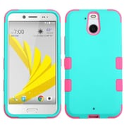 Insten Tuff Hard Hybrid Silicone Case For HTC Bolt - Teal/Pink