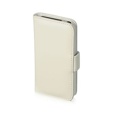 Insten Vertical Wallet Pouch Leather Case White For Apple iPhone SE / 5 / 5S