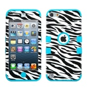 Insten Tuff Hybrid Zebra Skin/Tropical Teal Case For iPod touch 6th 5th Generation (2178027)