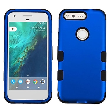 Insten Tuff Hard Hybrid Rubber Coated Silicone Cover Case For Google Pixel XL - Blue/Black