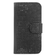 Insten Folio Wallet Leather Bling Case with Card slot For Motorola Moto E (2nd Gen) - Black